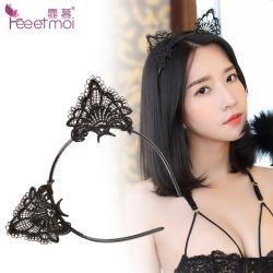 【情趣内衣】霏慕配件蕾丝镂空猫耳发箍7651-7652可做赠品搭配送
