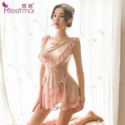 【情趣内衣】霏慕蕾丝露背绑带裙女佣装7809(限价销售39)图片包翻新